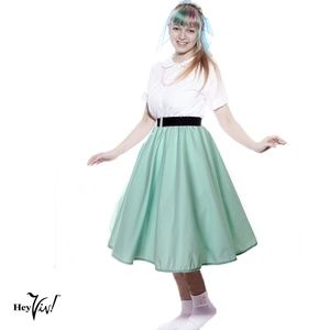 Full Circle Retro Skirt - Mint - S/M - Hey Viv